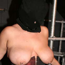 Face bagging fun. When my slave is extra naughty I place a bag over her head as part of her tit anguished session.