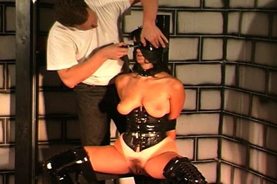 Binding of the boobs 91. Black rope is intricately tied around her tits, binding them and then being whipped with multiple implements