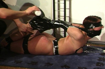 Don t forget the boobs 6. Once her face and limbs are bound, he moves on to those large full breasts - making this one hot tit bondage scene